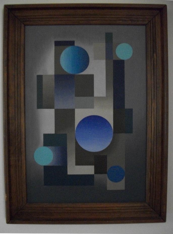 FIve Blue Circles
